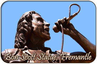 Bonn Scott Statue, Fishing Boat Harbour, Fremantle, WA
