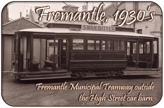 Fremantle in the 1930's, Fremantle Tram