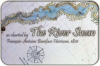 River Swan Nautical Chart, 1801 - by Francois-Antoine Boniface HYerisson