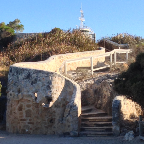 Stairs to the Round House (old Fremantle Gaol)