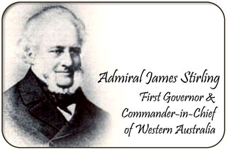 Admiral James Stirling, First Governor of Western Australia