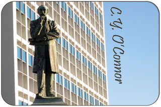 C. Y. O'Connor Statue, Fremanle Port Authority Building, Fremantle Western Australia