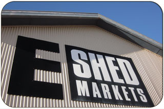E Shed Markets Sign, Victoria Quay - The Fremantle Waterfront District