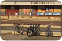 Bicycle friendly eShed Shopping in Fremantle
